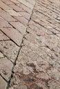 sanpietrini arsizio stree pavement of a curch marble