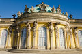 Sans souci palace of frederick the great king of prussia in potsdam near berlin Royalty Free Stock Photography