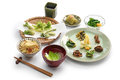 Sansai ryori, japanese edible wild plants vegetables cuisine Royalty Free Stock Photo