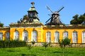 The Sanssouci palace in Potsdam, Germany. Stock Photo