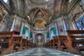 Sant Ambrogio church interior. Stock Photo