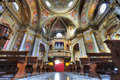 Sant Ambrogio church interior. Royalty Free Stock Photography