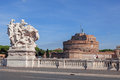 Sant angelo castle in rome italy against blue sky Royalty Free Stock Photo