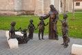 Sant antonio statuary ensemble in alba iulia a depicting of padova saint anthony of padua taking care of the children the carolina Royalty Free Stock Image