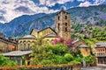 Sant Esteve church in Andorra la Vella Royalty Free Stock Photo