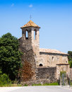 Sant marti de la capellada besalu catalonia Stock Photography