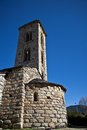Sant miquel romanic church andorra located at engolasters Royalty Free Stock Images