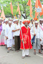 Sant tukaram palkhi procession maharastra india a still shot form the culturally important and s one of the biggest spiritual Royalty Free Stock Image