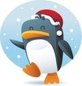 Santa καπέλων penguin Στοκ φωτογραφίες με δικαίωμα ελεύθερης χρήσης