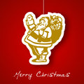 Santa applique background Royalty Free Stock Photography