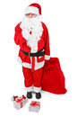 Santa asks to be quiet over white background Royalty Free Stock Images