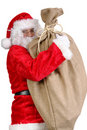 Santa avec le grand sac Photo libre de droits
