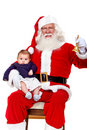 Santa with a baby Royalty Free Stock Images