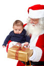 Santa and a baby Royalty Free Stock Images