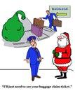 Santa At Baggage Claim