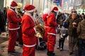 Santa band Royalty Free Stock Photo