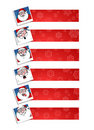 Santa banners Royalty Free Stock Photo