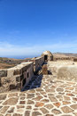 Santa barbara castle on the guanapay mountain teguise lanzarote canary islands spain Royalty Free Stock Photo