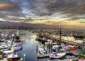 Santa Barbara Harbor. Royalty Free Stock Photo