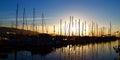 Santa Barbara Harbor with Yachts Boats Royalty Free Stock Photo