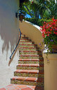 Santa Barbara staircase Royalty Free Stock Image