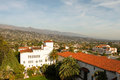 Santa barbara view over the city of Stock Photo