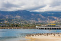 Santa Barbara Wharf Royalty Free Stock Image