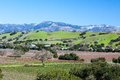 Santa barbara wine area region view in winter near los olivos california usa Stock Image