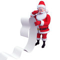 Santa with big long list Stock Photography