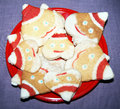 Santa biscuits the home made cookies of christmas Royalty Free Stock Photography