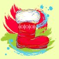 Santa boot Royalty Free Stock Photos