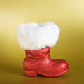 Santa Boot Stock Photography