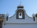 Santa brigita church bellfry close up of and bell at bridgita in alora estation andalucia Stock Image