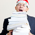 Santa businessman Stock Photography