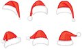 Santa cap set Stock Photos