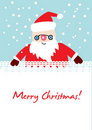 Santa card holding blanket Royalty Free Stock Images