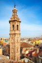 Santa catalina church tower in valencia historic downtown spain Royalty Free Stock Images