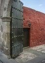 Santa catalina monastery entrance Arkivbilder
