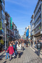 Santa catarina street the main shopping street of the city porto portugal december full shoppers during end year Royalty Free Stock Photos