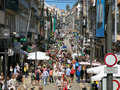 Santa catarina street in porto people shopping rua the city centre of portugal Stock Image
