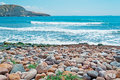 Santa caterina rocks di pittinuri beach on a clear day Royalty Free Stock Photo