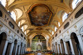 Santa cecilia church in rome interior view of the of trastevere is one of the oldest churches of Royalty Free Stock Photos