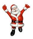 Santa che salta per la gioia Immagini Stock Libere da Diritti