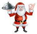 Santa Chef Christmas dinner 2015 C2 [Converted] Royalty Free Stock Photo