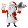 Santa Chef Christmas dinner 2015 D1 [Converted] Royalty Free Stock Photo