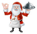 Santa Chef Christmas dinner 2015 E2 [Converted] Royalty Free Stock Photo