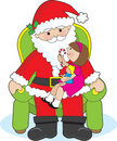 Santa and Child Stock Photo