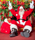 Santa in the chimney Royalty Free Stock Photo