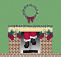 Santa Chimney Stock Photo