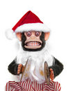Santa Chimp Royalty Free Stock Image